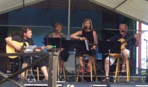 Kils Visfestival. Per Jacobsson, Björg Karlsson, Lisa och Eilert Karlsson